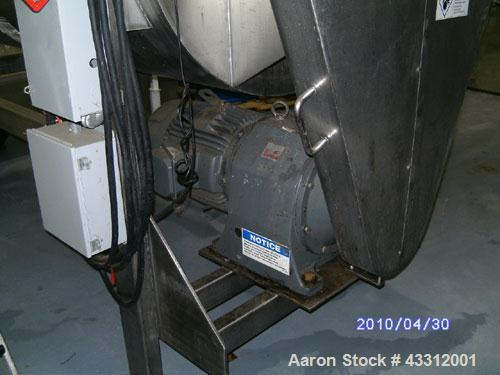 Used-Aaron Process Equipment Ribbon Blender, Model IMB -75, Stainless Steel.Constructed of stainless steel material on all p...