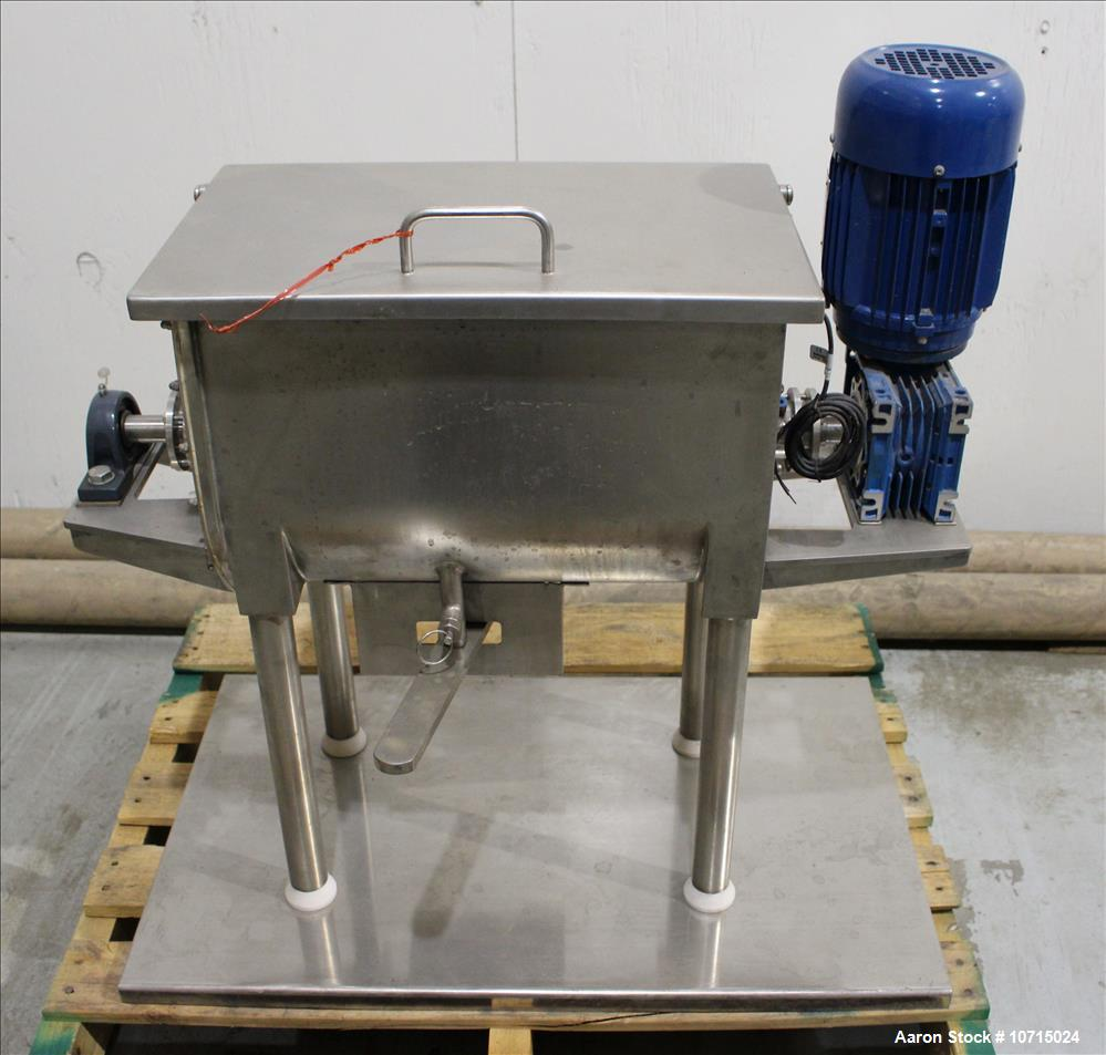 New- In Stock- Aaron Process 1 Cubic Foot Ribbon Blender. Type 304 Stainless Steel. All external stiffeners, legs, ribs and ...