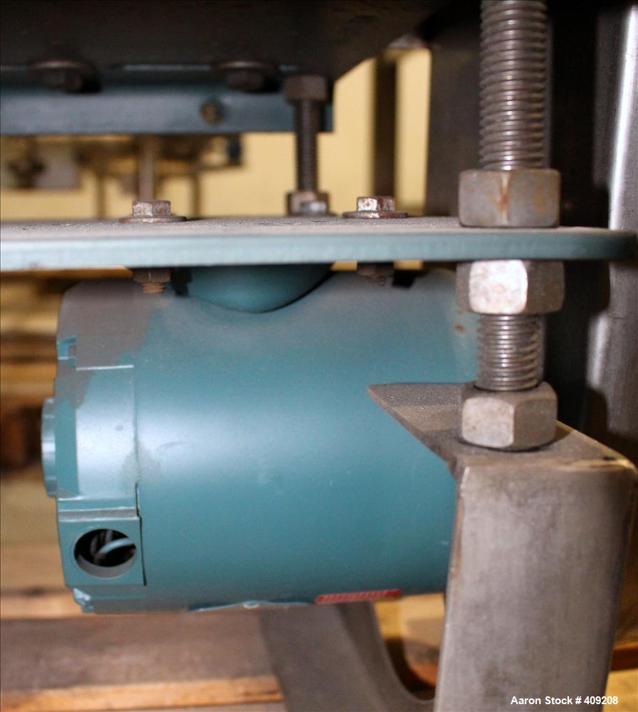 Unused- Aaron Process 1 Cubic Foot Ribbon Blender. Type 304 Stainless Steel. All external stiffeners, legs, ribs and support...