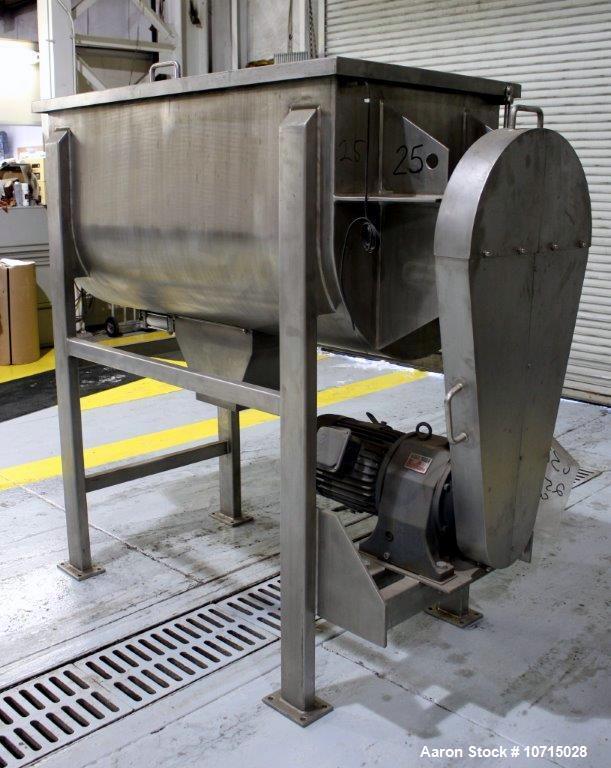 New- Paul O. Abbe Model IMB-25- 25 Cubic Foot working capacity Ribbon Blender.