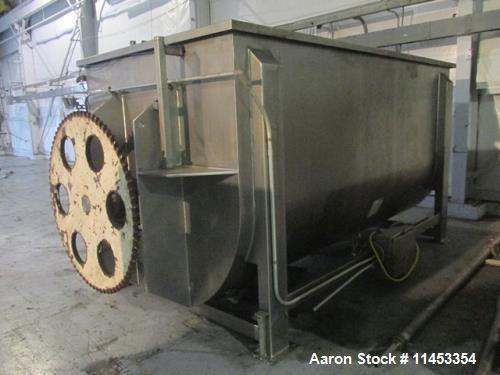 Used- 400 Cubic Foot Aaron Process Ribbon Blender, Model IMB400CF.