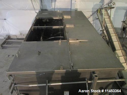 Used- 400 Cubic Foot Aaron Process Ribbon Blender, Model IMB400CF