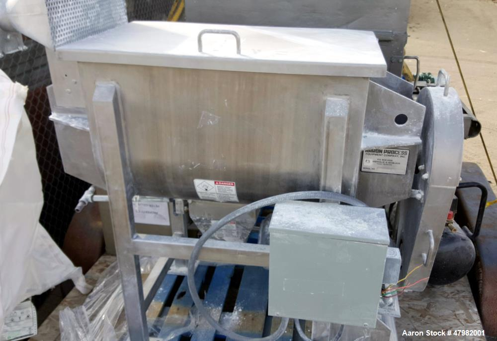 Used: Aaron Process 5 Cuft. Double Ribbon Blender, Model IMB-5.  Working Capacity: 5 Cubic Feet Trough: Constructed of stain...