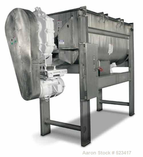 Unused-NEW Aaron Process 14 cu ft double ribbon blender. 14 cu ft workingcapacity, 17 cu ft full capacity. Constructed of T3...