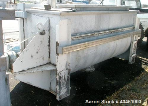 "Used- Aaron Process double spiral ribbon blender, 80 cubic feet working capacity, stainless steel. Non-jacketed trough 40"" w..."