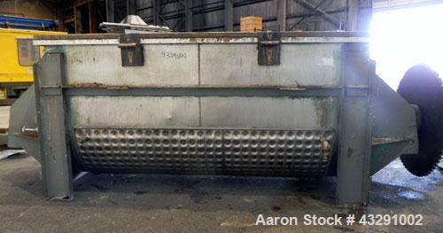 "Used- Aaron Process Equipment Ribbon Blender, 80 Cubic Feet, 304 Stainless Steel. Trough 40"" wide x 96"" long x approximate 4..."