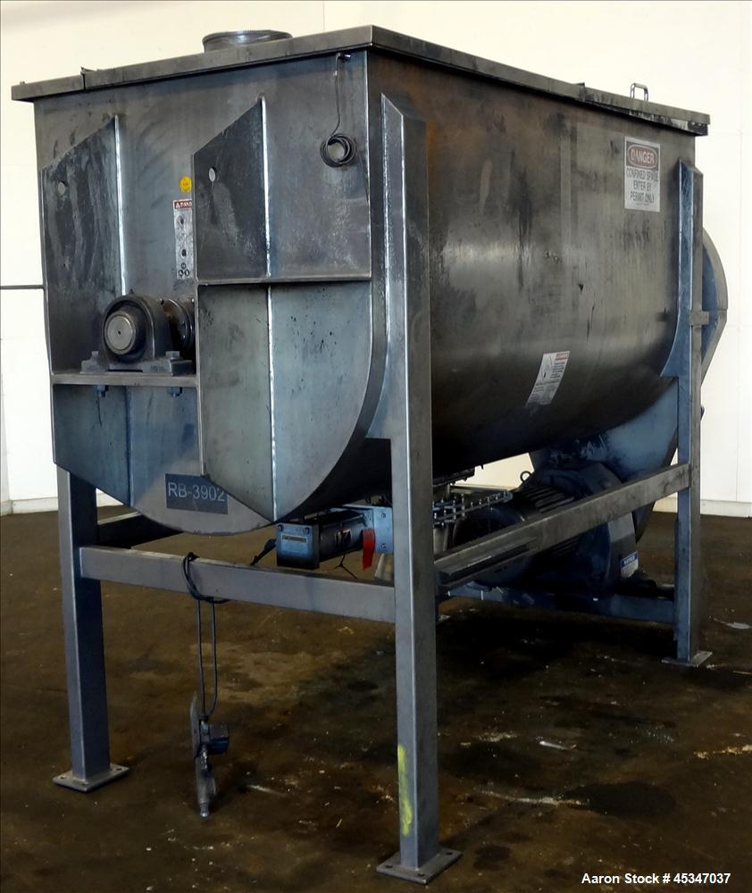 Used-  Aaron Process Ribbon Blender, Model IMB-100, 100 cubic feet