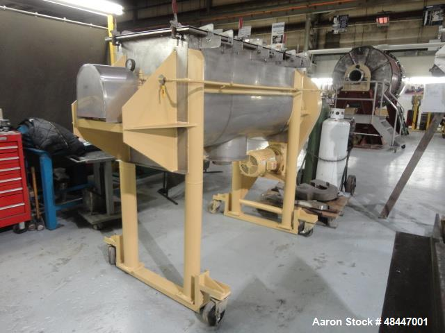 Used- Aaron Process Double Spiral Ribbon Blender, 24 Cubic Foot Working Capacity