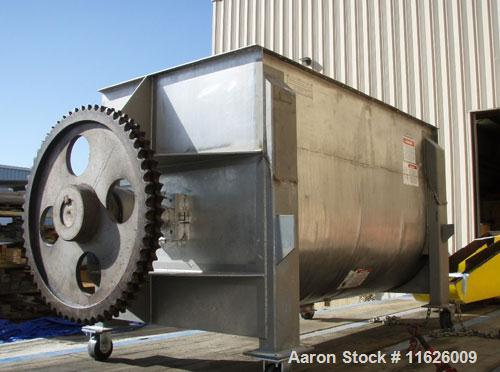 "Used-American Process Ribbon Blender, Model DRB-100.Inside dimensions 8' long x 45"" wide x 53"" deep, 44"" to top of ribbon; 6..."
