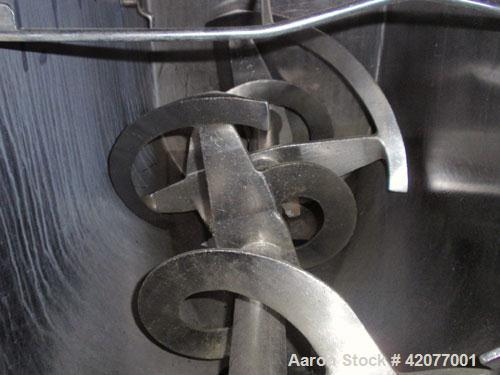 """Used- American Process Double Spiral Ribbon Blender, model DRB-11, 11 cubic feet, 316 stainless steel. 21"""" wide x 48"""" long t..."""