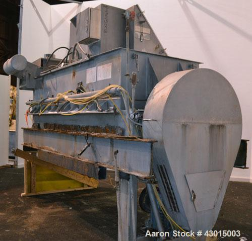 Used- American Process Heavy Duty Double Spiral Ribbon Blender, Model DRB-120, 120 cubic feet working capacity, 304 stainles...
