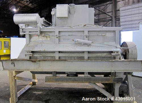 Used- American Process Heavy Duty Double Spiral Ribbon Blender, Model DRB-155, 155 cubic feet working capacity, 304 stainles...
