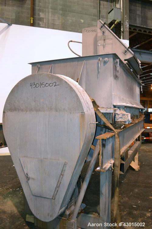 Used- American Process Heavy Duty Double Spiral Ribbon Blender, Model DRB-155, 150 cubic feet working capacity, 304 stainles...