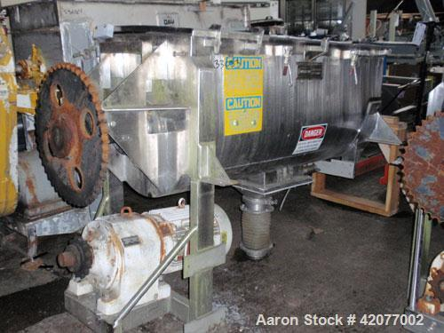 """Used- American Process Double Spiral Ribbon Blender, model DRB-24, 24 cubic feet, 316 stainless steel. 26"""" wide x 66"""" long t..."""
