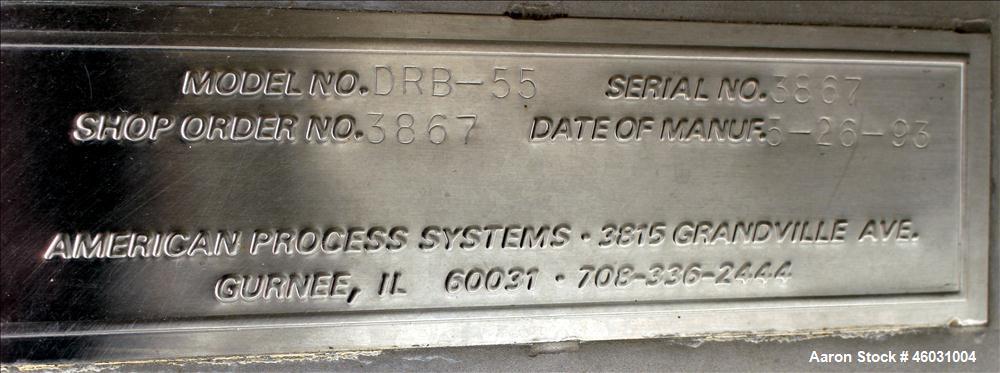 Used- American Process Equipment Ribbon Blender