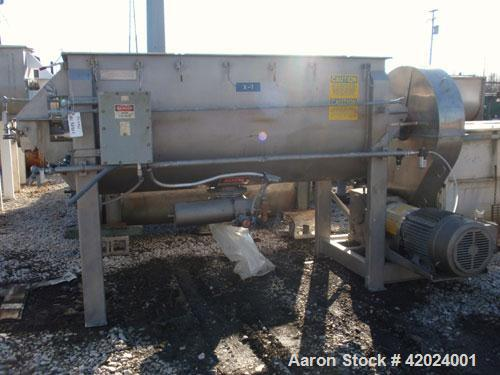 Used- American Process Double Spiral Ribbon Blender, model DRB-66XH, 66 cubic feet working capacity, stainless steel. Non-ja...