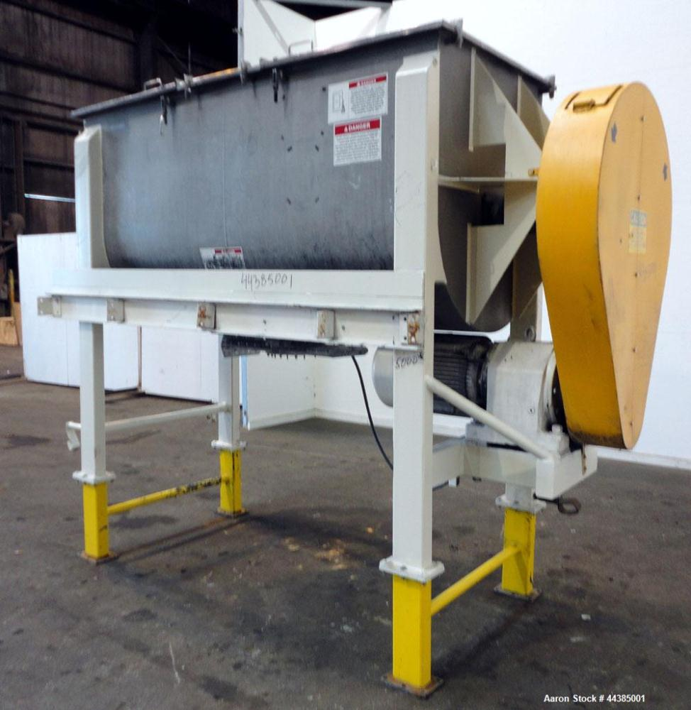Used- American Process Heavy Duty Double Spiral Ribbon Blender, Model DRB-80, 80 cubic feet working capacity, 321 stainless ...