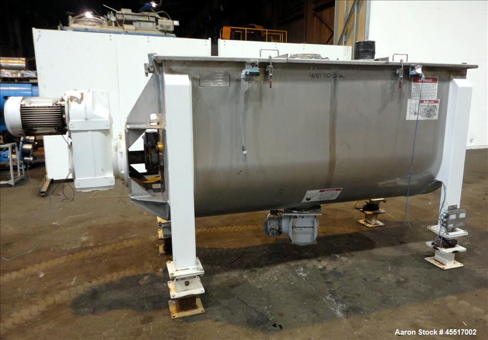 Used-American Process Ribbon Blender, Model 4080/ 5205, approximately 80 cubic f