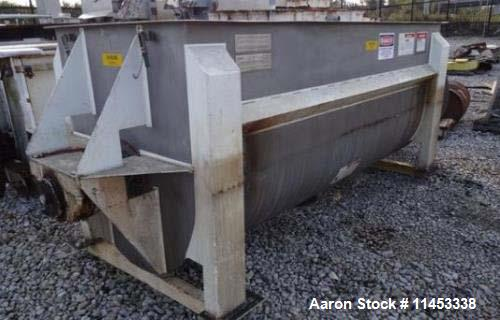 "Used- American Process Ribbon Blender, Model DRB-120. 120 cu. ft., stainless steel construction, approximately 44"" wide x 12..."