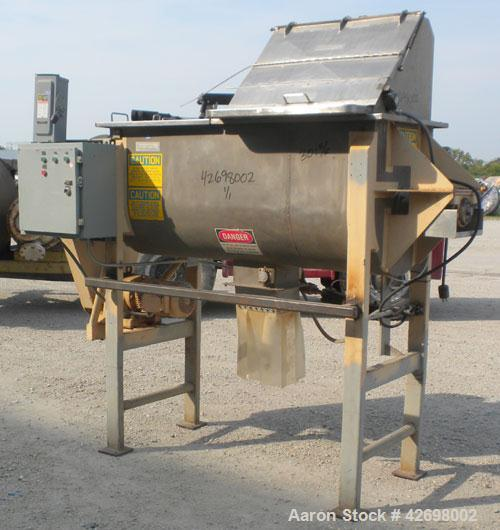 Used- American Process Double Spiral Ribbon Blender, Model DRB24, 24 Cubic Feet Working Capacity, 301 Stainless Steel. Non-j...