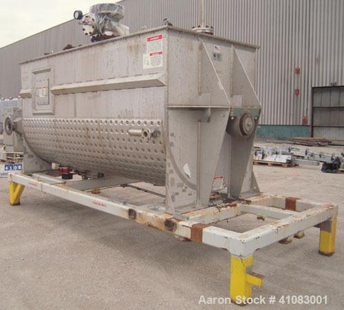 Used- American Process Double Spiral Ribbon Blender, Model DRB-325, 325 cubic feet working capacity, 304 stainless steel. Di...