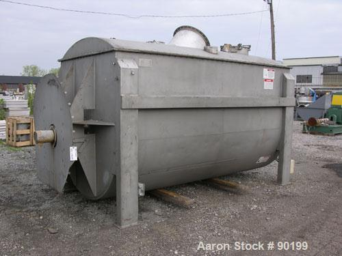 "Used American Process 385 ft3 paddle/ribbon blender, model PRB-385, stainless steel construction, 72"" wide x 144"" long x 80""..."