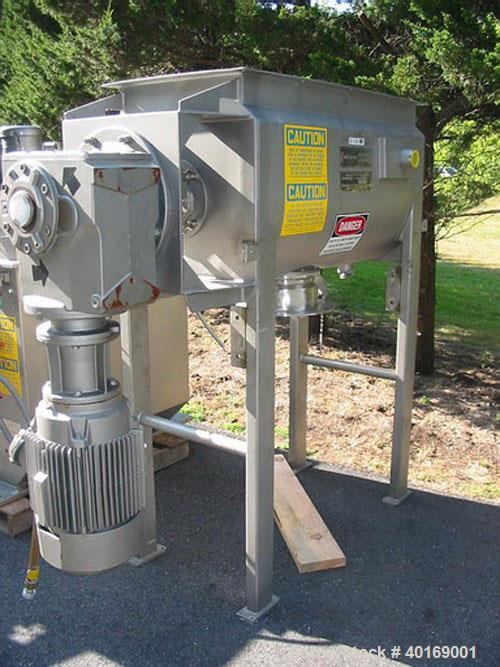 Unused-USED: American Process Systems model DRB-11 sanitary, extra heavyduty, jacketed double ribbon blender. Sanitary stain...