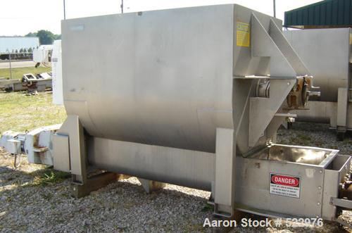 USED: 75 cubic foot sanitary 304 stainless steel paddle blender. Can be used as a blender or as a holding bin with discharge...