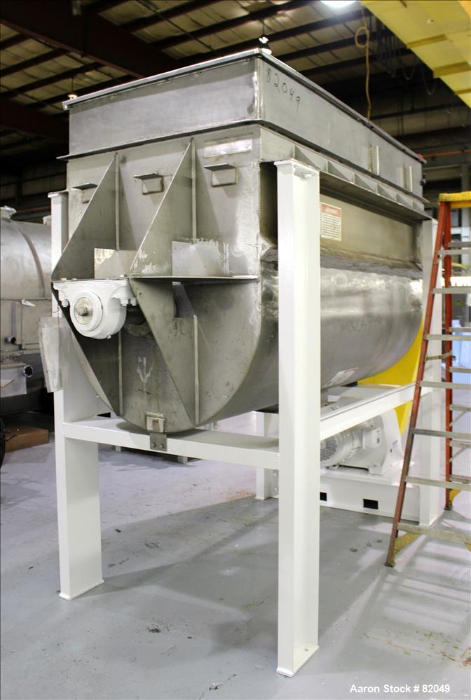 Used- Stainless Steel American Process Ribbon/Paddle Blender, 100 Cubic Feet Wor