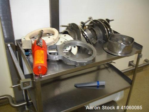 """Used- Areco Ribbon Blender, 125 cubic feet, stainless steel construction. 48"""" wide x 120"""" long trough, double ribbon, outboa..."""