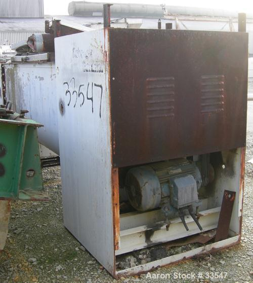 Used- Babcock Gardner Interrupted Double Spiral Ribbon Blender, Model 2000H. 98 Cubic foot working capacity, 304 stainless s...