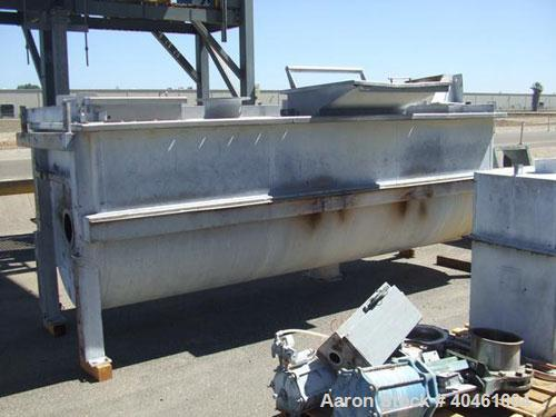 Used- Bepex Double Spiral Ribbon Blender, model 1MXXS-135, 135 cubic feet working capacity, stainless steel. Non-jacketed tr...