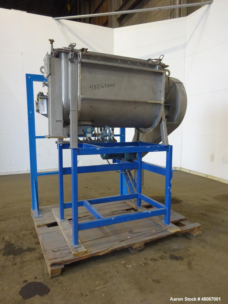 Used- Hosokawa Bepex Ribbon Mixer, Approximate 17 Cubic Feet, 304 Stainless stee