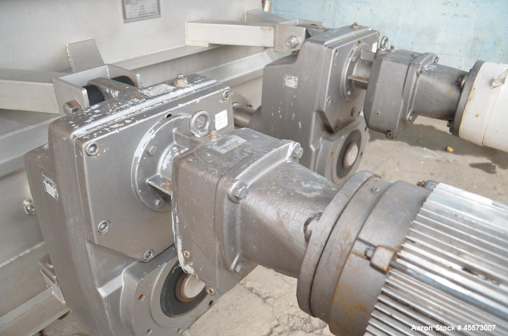 Used- Blentech 100 Cubic Foot Jacketed Dual Shaft Double Ribbon Mixer, Model TP28133X
