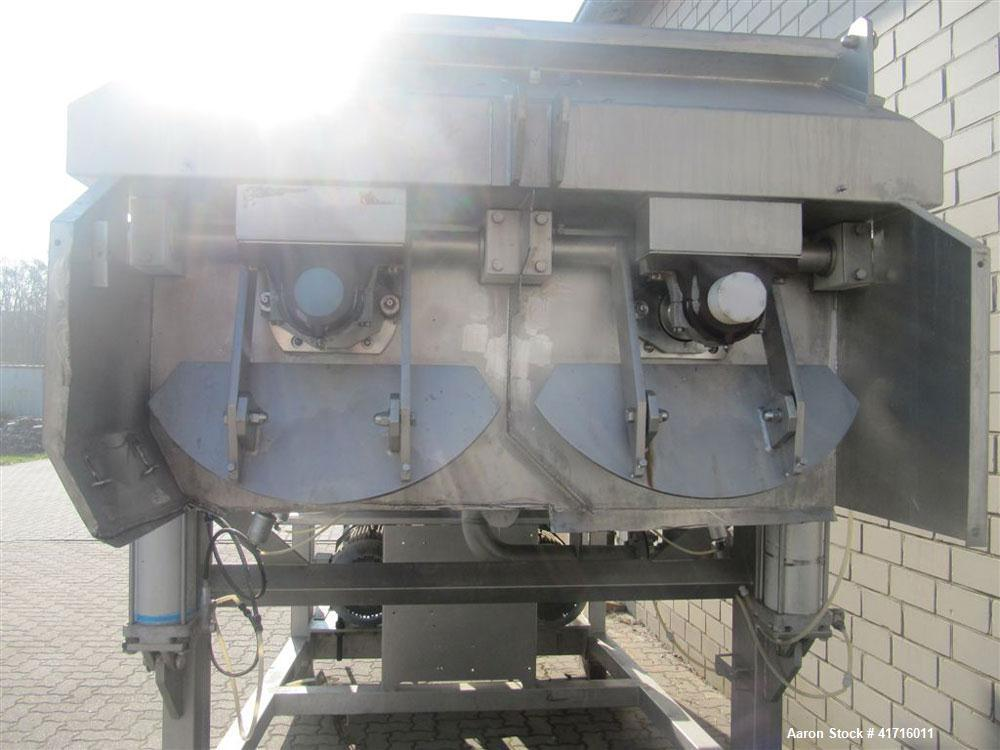 Used- Stainless Steel Boldt Type BM6000S52R Twin Shaft Ribbon Mixer. Maximum capacity 211 cubic feet (6000 liters)