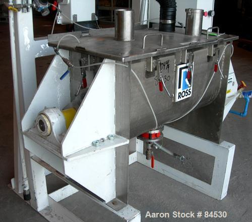 USED: Ross double spiral ribbon blender, model 42A5, 5 cubic feet working capacity, 7 total, 304 stainless steel. Non-jacket...