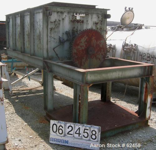 """Used- Cleveland Ribbon Blender, 180 Cubic Foot Capacity, Carbon Steel. 54"""" Wide x 120"""" long x 59"""" deep trough. Outer and inn..."""