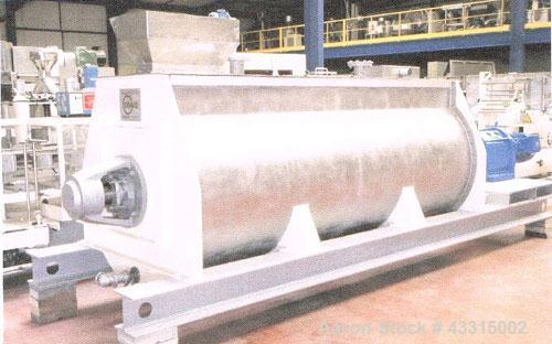 Used- Stainless Steel Drais S4500 Ribbon Blender, capacity 159 cubic feet
