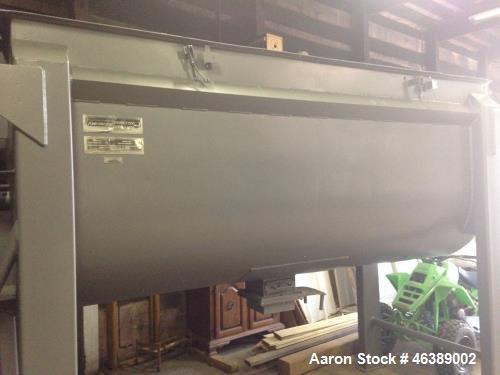 Used- American Process Ribbon Blender, Model DRB-120. Approximately 120 cubic feet, carbon steel construction. Mfg 1996.