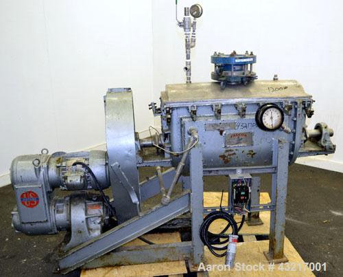 Used- Falcon Manufacturing Double Spiral Ribbon Blender, Model 500AA, 2 Cubic Feet Working Capacity, 316 Stainless Steel. Ca...