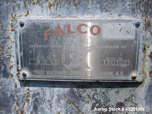 Used- Stainless Steel Falco model 504 Double Spiral Ribbon Blender, 40 Cubic Fee