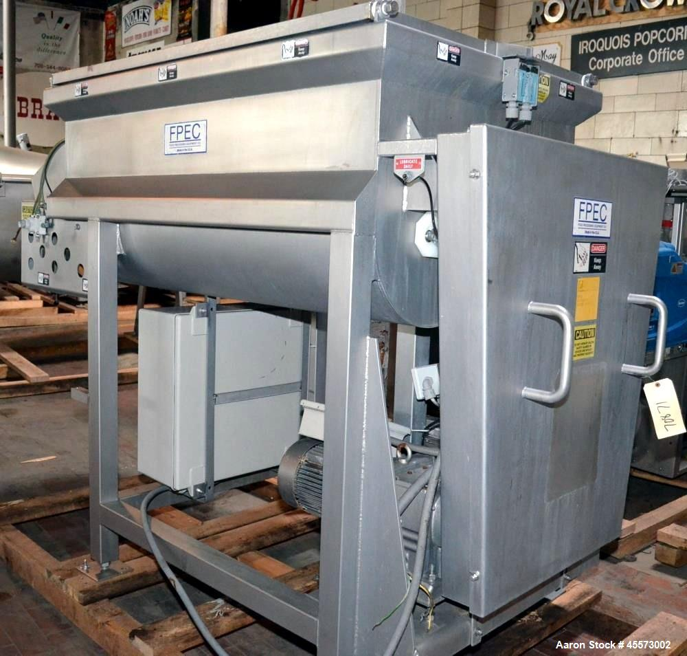 Used- FPEC Model 814 Approximately 35 Cubic Foot Stainless Steel Dual Ribbon Ble