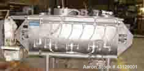 Used-Hayes & Stolz Double Spiral Ribbon Blender, Model HR20USS, 20 cubic foot working capacity, 304 stainless steel.  Non-ja...
