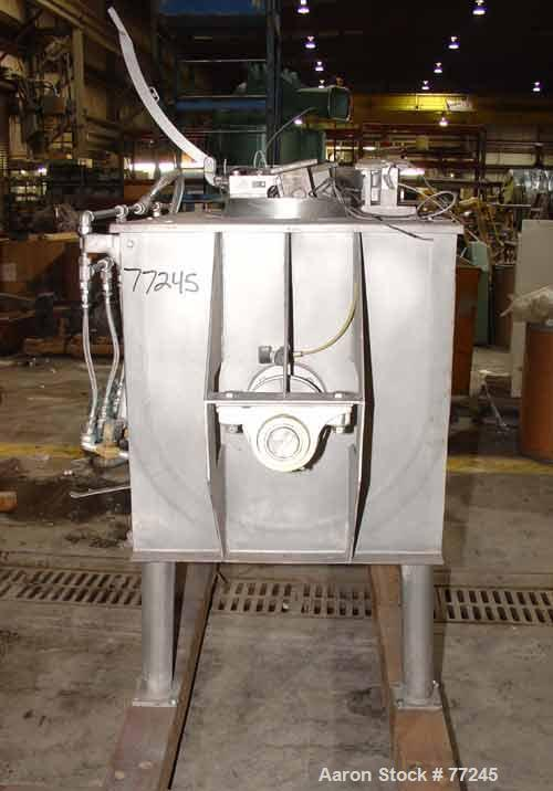 USED: Hayes & Stolz double spiral ribbon blender, model HR20USS, 20 cu ft working capacity, 304 stainless steel. Non-jackete...