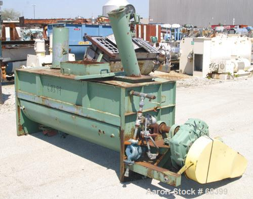 "Used- S. Howes Ribbon Blender, 40 Cubic Feet, Model M-308, Carbon Steel. Carbon steel bottom jacketed trough 30"" wide x 96"" ..."