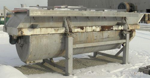 """Used- S. Howes Double Spiral Ribbon Blender, 170 cubic feet working capacity, 321 stainless steel. Non-jacketed trough 48"""" w..."""