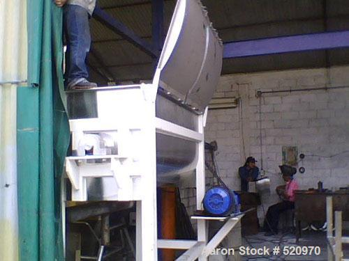 Unused-UNUSED: Hydratec ribbon blender, 52 cu ft working capacity, fabricated in 304 stainless steel with 180 grit finish in...