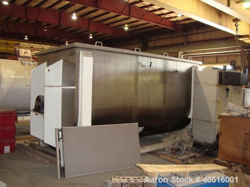 Unused-NEW MODEL IMB500 DOUBLE RIBBON BLENDER WORKING CAPACITY 500 CUFT, FULL CAPACITY 600 CUFT.  TROUGH CONSTRUCTED OF T304...