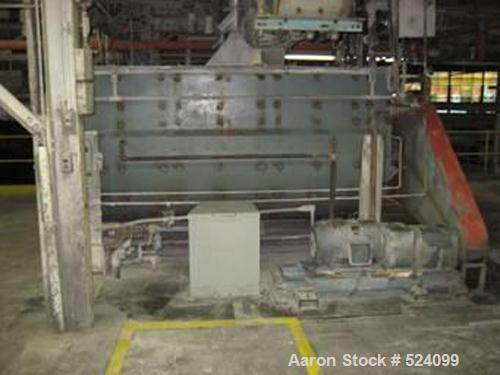 """USED: J H Day 180 cubic foot double ribbon blender, model 5410.Stainless steel contact parts, jacketed trough. 54"""" wide trou..."""