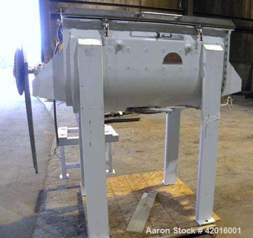 Used- J.H. Day Double Spiral Ribbon Blender, model C, 10.8 cubic feet working capacity (12.5 total), 304 stainless steel. Ca...